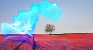-- Blue wave light --