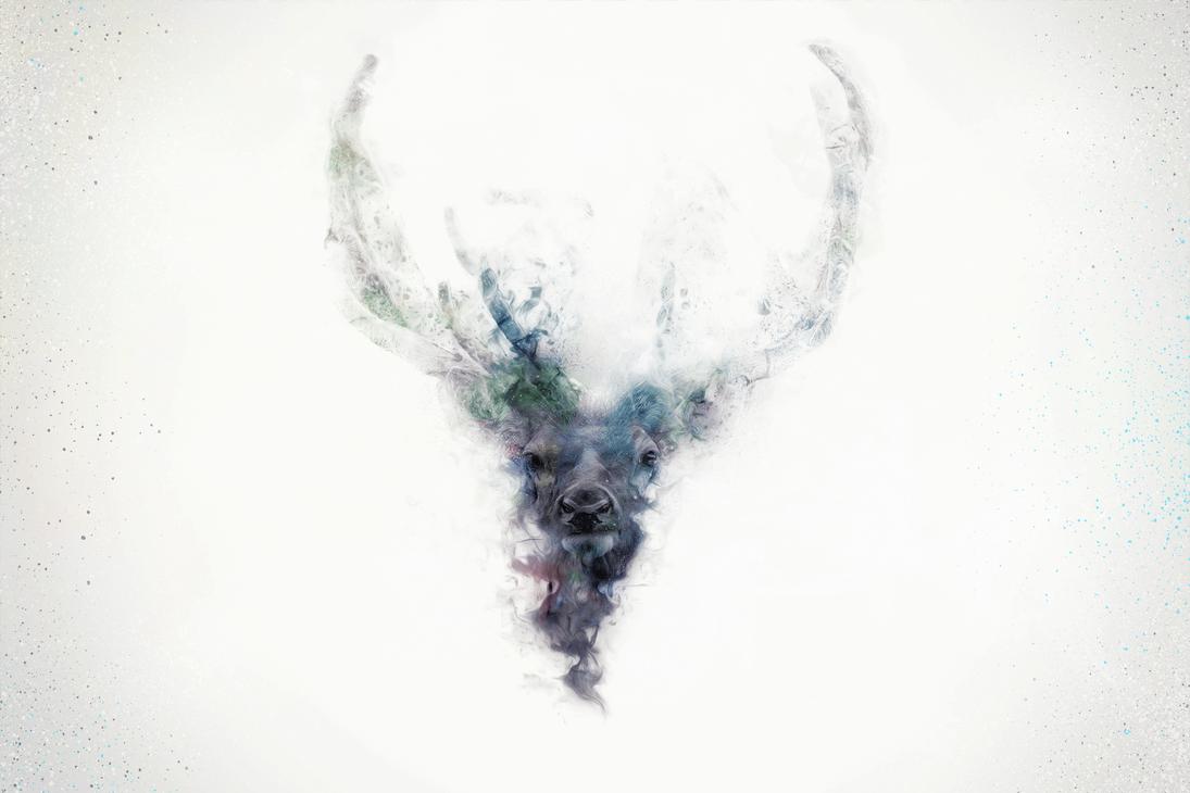 -- Smoke deer -- by 0l-Fox-l0