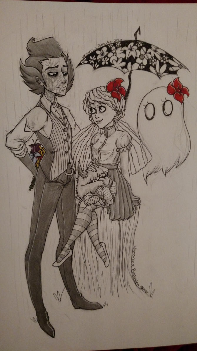 Wilson, Wendy, a ghost and a storage container. by MrsRedDragonRawr