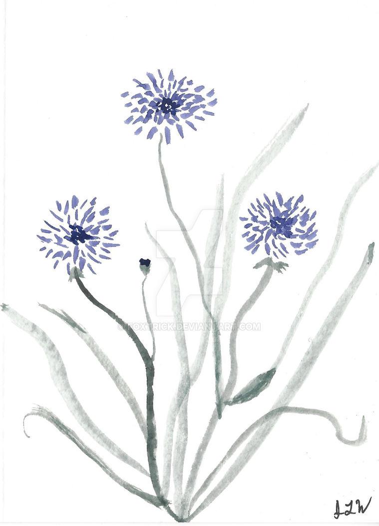 Purple Flower by Foxtrick