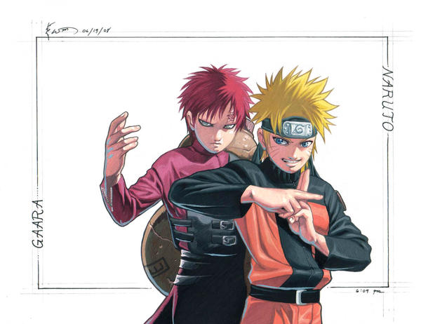 Naruto and Gaara, Good Friends by Nick-Ian on DeviantArt