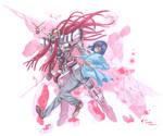 Tieria Erde and Gundam Nadleeh