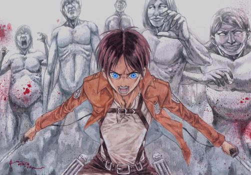 Shingeki No Kyojin Eren's Rage