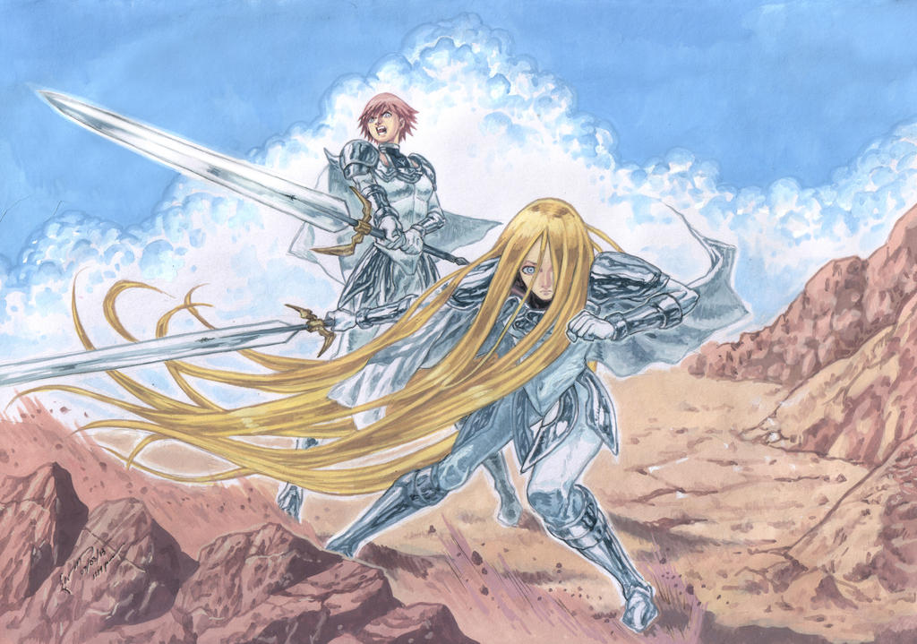 Claymore Clarice And Miata To Battle by Nick-Ian on DeviantArt Claymore Clarice