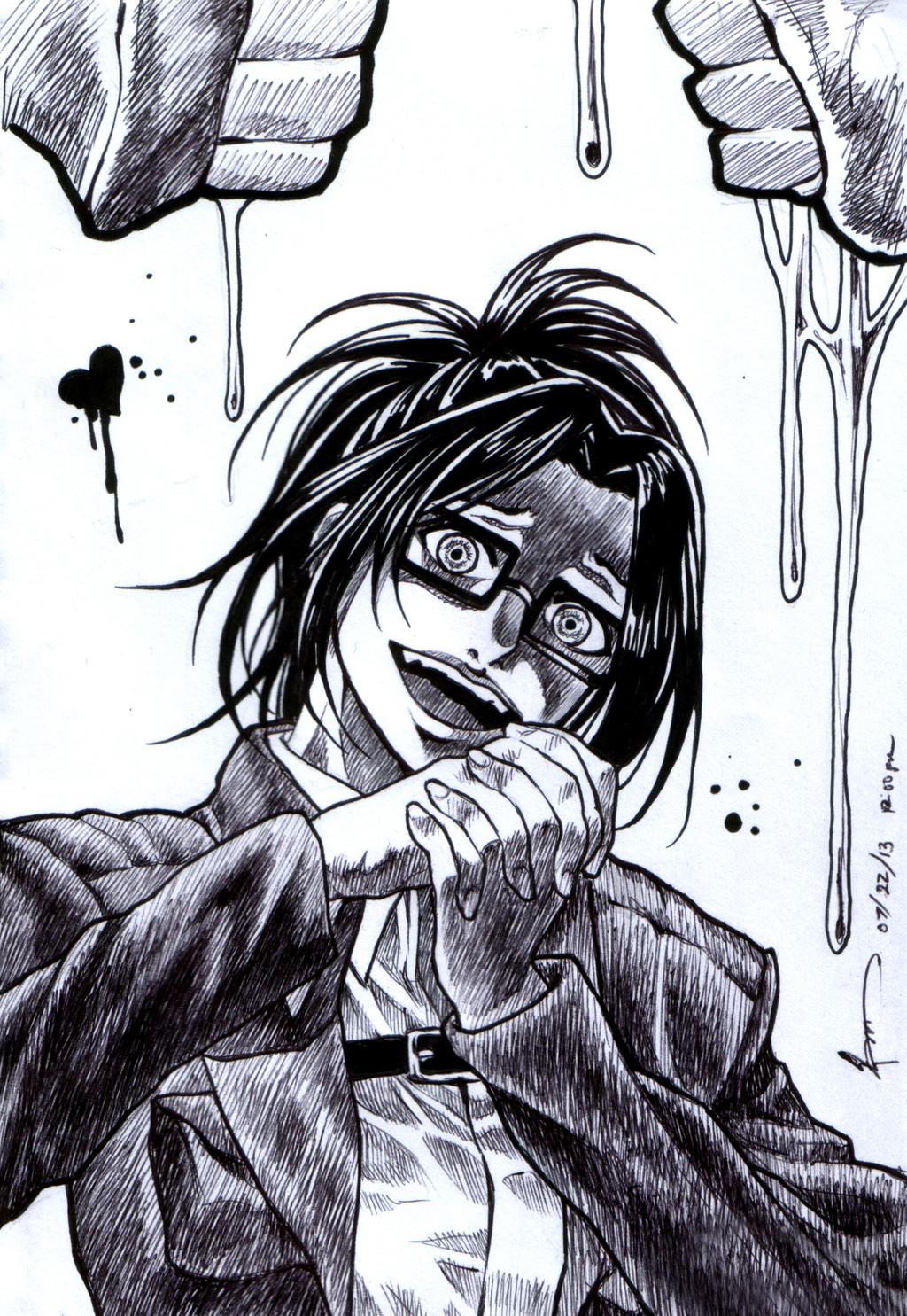 Shingeki No Kyojin Hanji Uncolored by Nick-Ian on DeviantArt