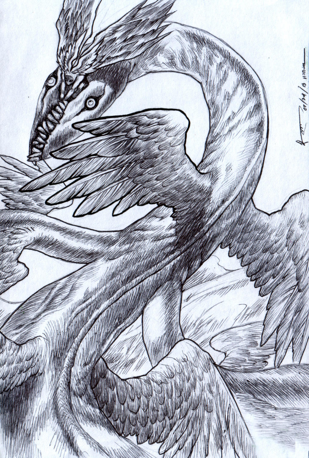 Claymore Miata Dragon Form by Nick-Ian