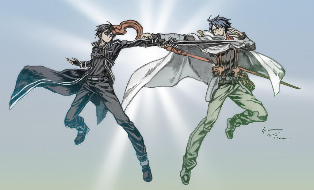 Crossover Sao Vs Log Horizon By Nick Ian