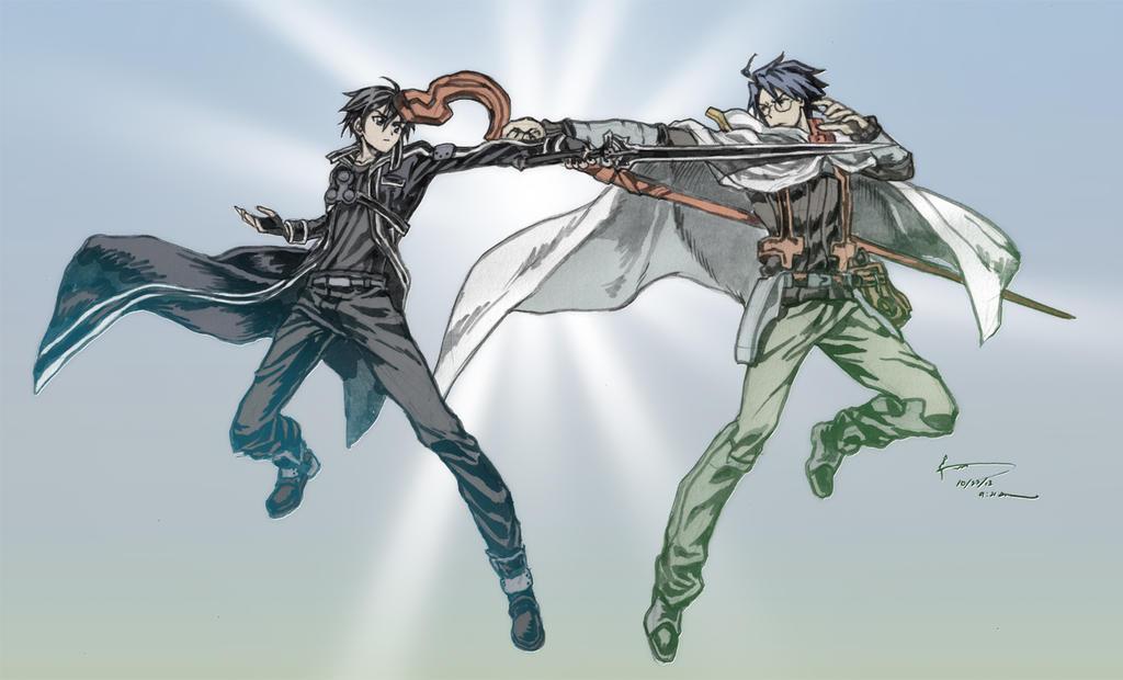 Log Horizon vs Sword Art Online Crossover_sao_vs_log_horizon_by_nick_ian-d6rdcqw