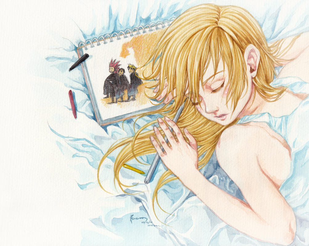 Kingdom Hearts Namine And Kairi Anime Namine -358-2 D...