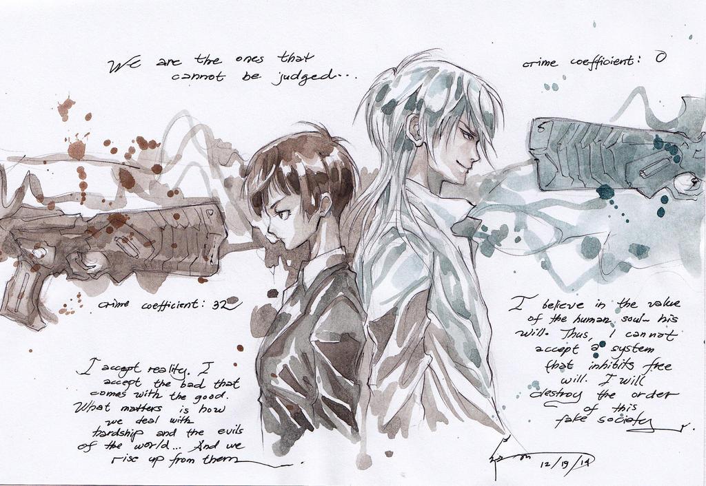 Psycho-Pass: Akane And Shogo by Nick-Ian
