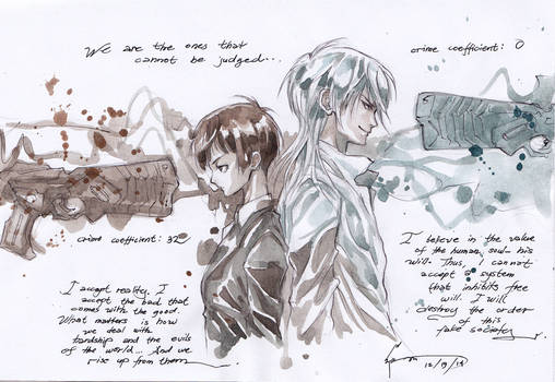 Psycho-Pass: Akane And Shogo