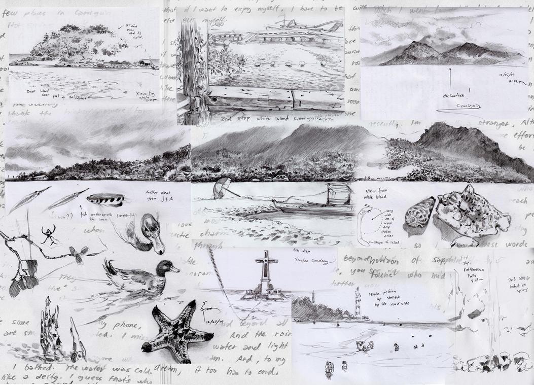 Camiguin Island Trip - Sketches by Nick-Ian
