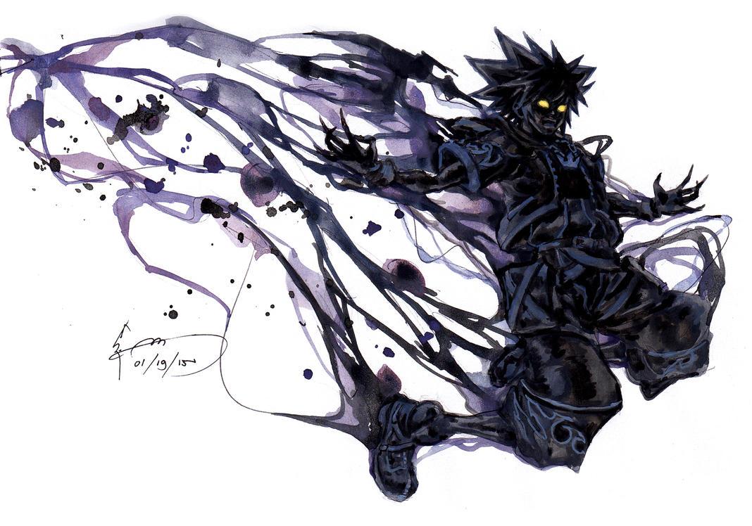 Kingdom Hearts 2 - Anti Sora Form by Nick-Ian