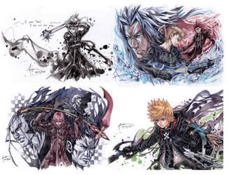 Kingdom Hearts 2.5 HD Remix Assorted Art 2 by Nick-Ian