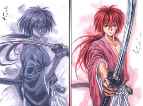 Rurouni Kenshin - Purple, Red
