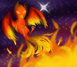 A Burning Phoenix +Speedpaint