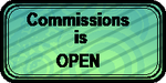 COMMISSIONS is OPEN (art status stamp) by gigifeh