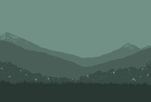Pacific Mountain Range MSPaint Background (Small)