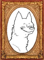 Fucked Up Wolf Portrait Base by Birritan