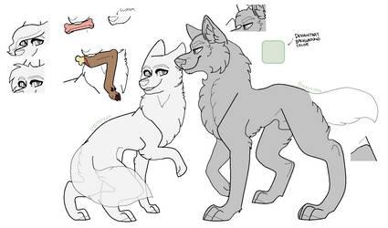 Customizable MSPaint Friendly Canine/s Lineart