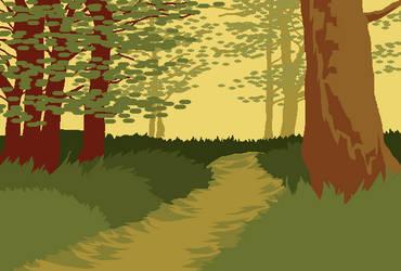 forest mspaint background by Birritan