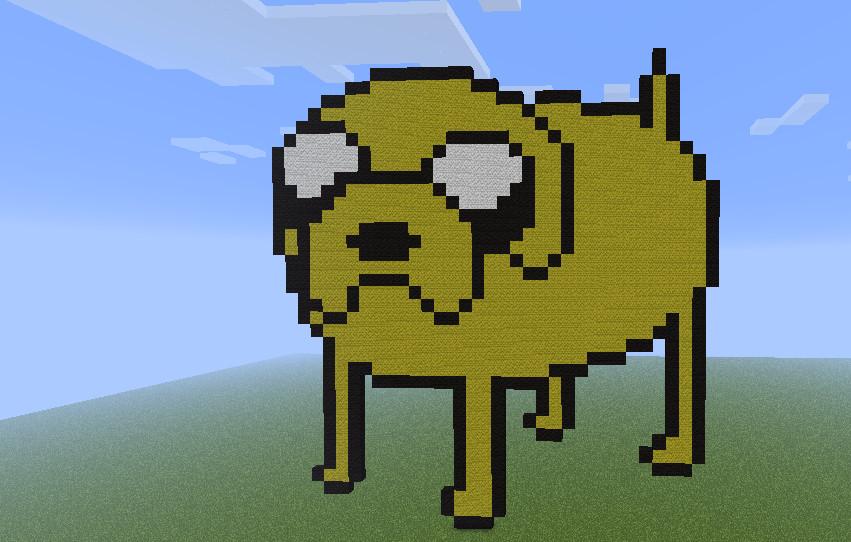 Jake sprite in Minecraft by Ihrey98