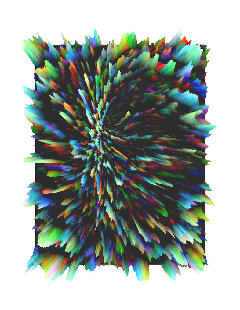 Distrotion Burst Art 3D by Teikiatsu-Samurai