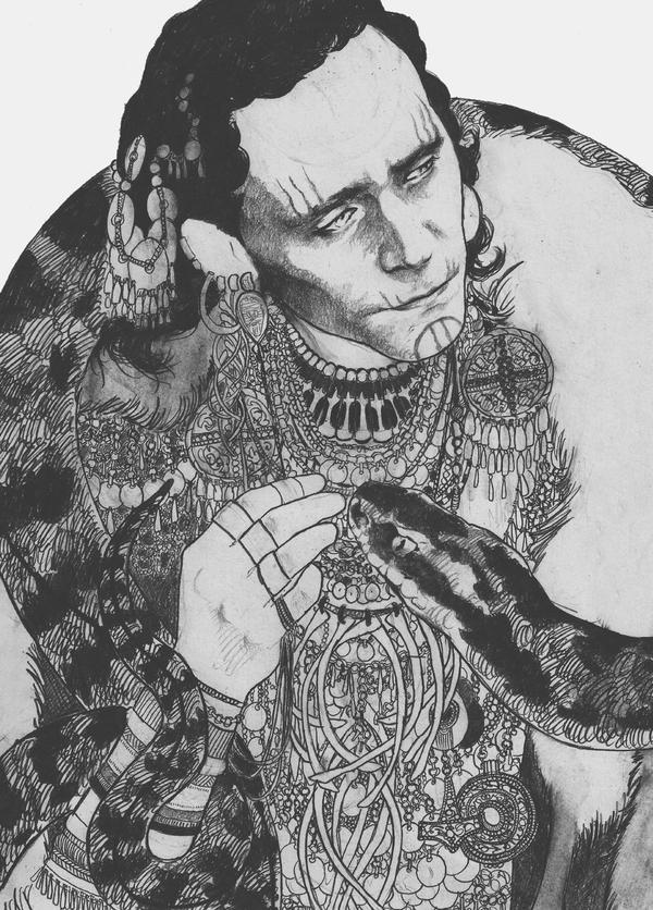 Loki with Jormungandr by icagic