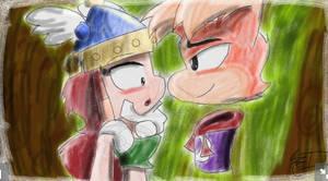 Rayman Legends: Barbara And Rayman by OfficialArtMan