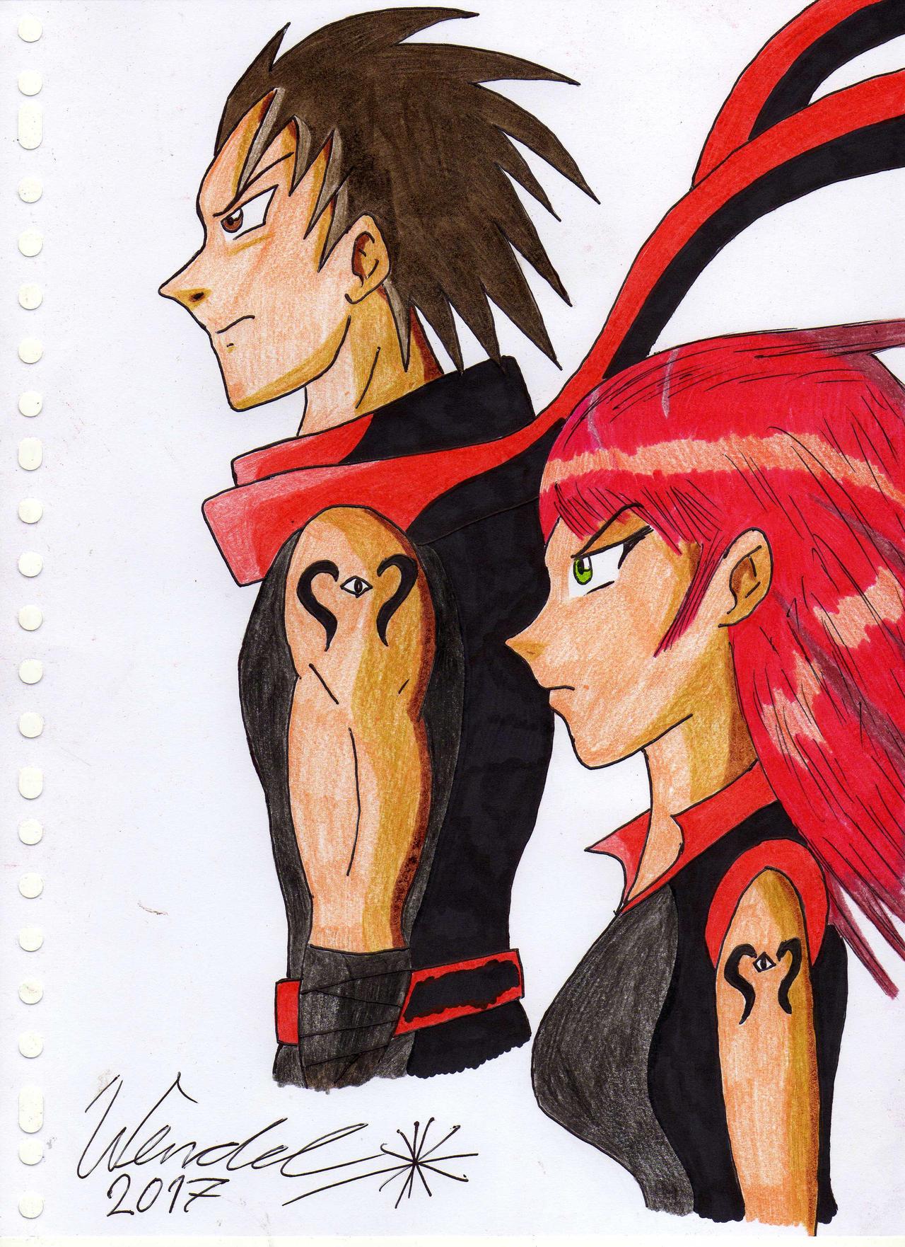 Anime Boy And Girl ninja anime boy and girlwendelkrolis on deviantart
