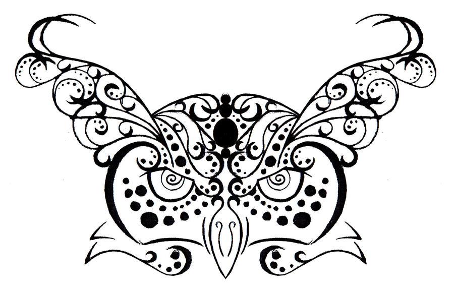 Horned Owl Tattoo Design Owl Tribal Henna Tattoo Design