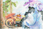 Dragons-The Four Elements by Cedarbird