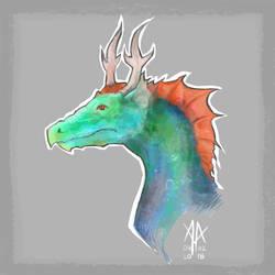 Dragon sketch 1 by Cedarbird
