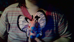 Pink Butterfree Plush by BrittanyKitty2010