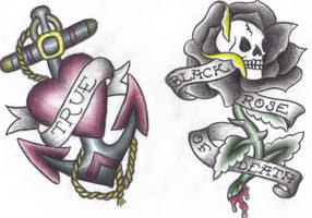 2 in 1 anchor and skull by greenday75