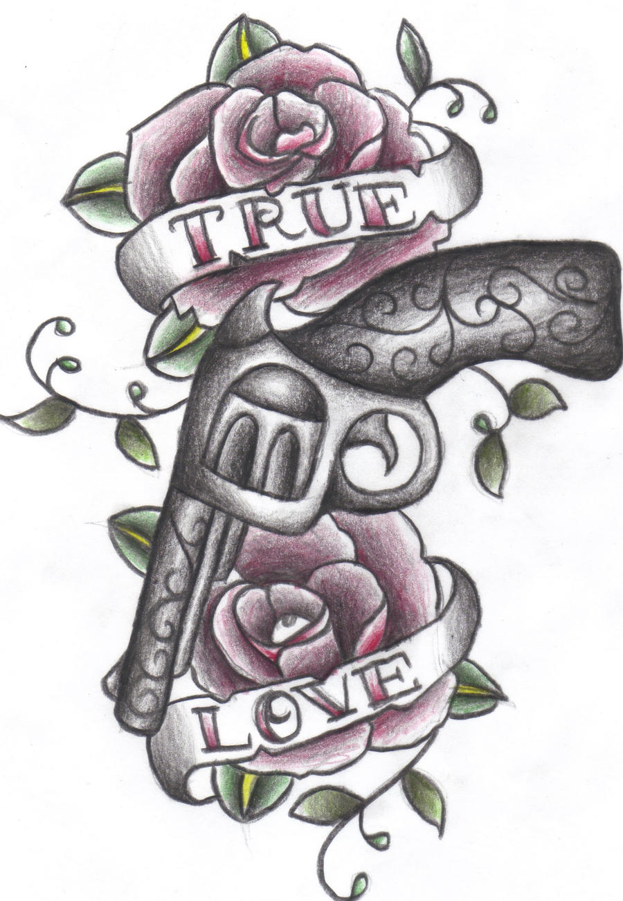 Guns And Flower Drawings Easy Www Imagessure Com