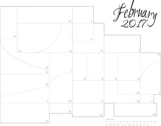 February Sketch a Day - 2017 by darthneko