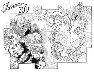 January Sketch-A-Day by darthneko