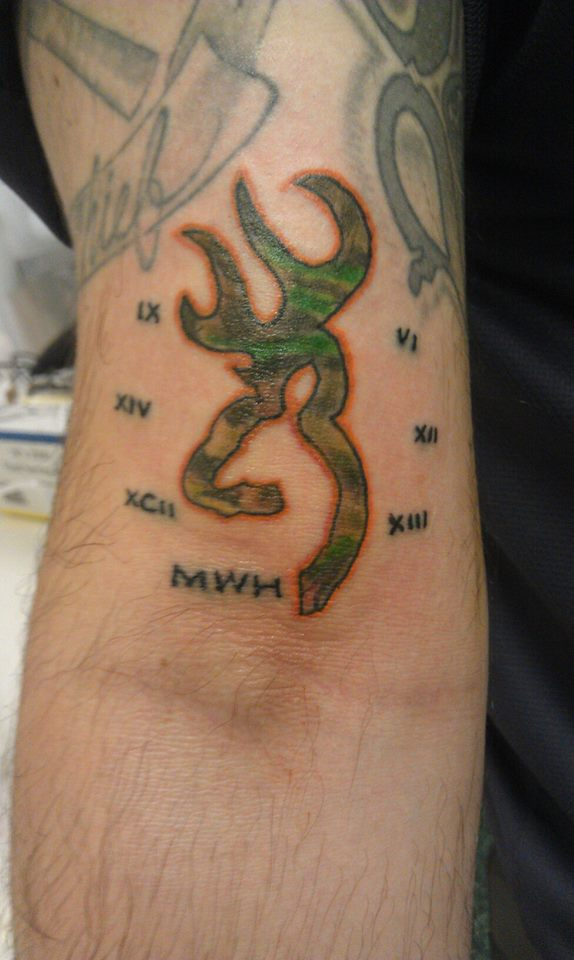 browning logo camo tattoo by mattparkertattoo on deviantart