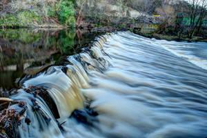 Rapids on Calder by Hollins Mill Lane by TazPoltorak