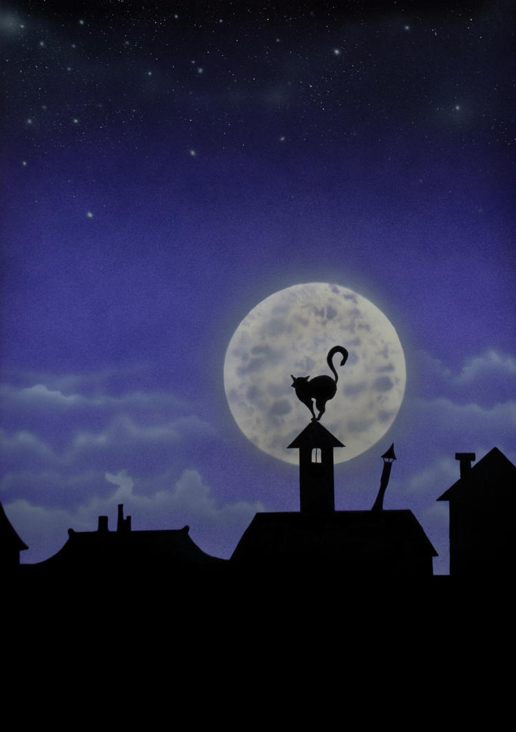 Purple Moon Cat 1 by TazPoltorak