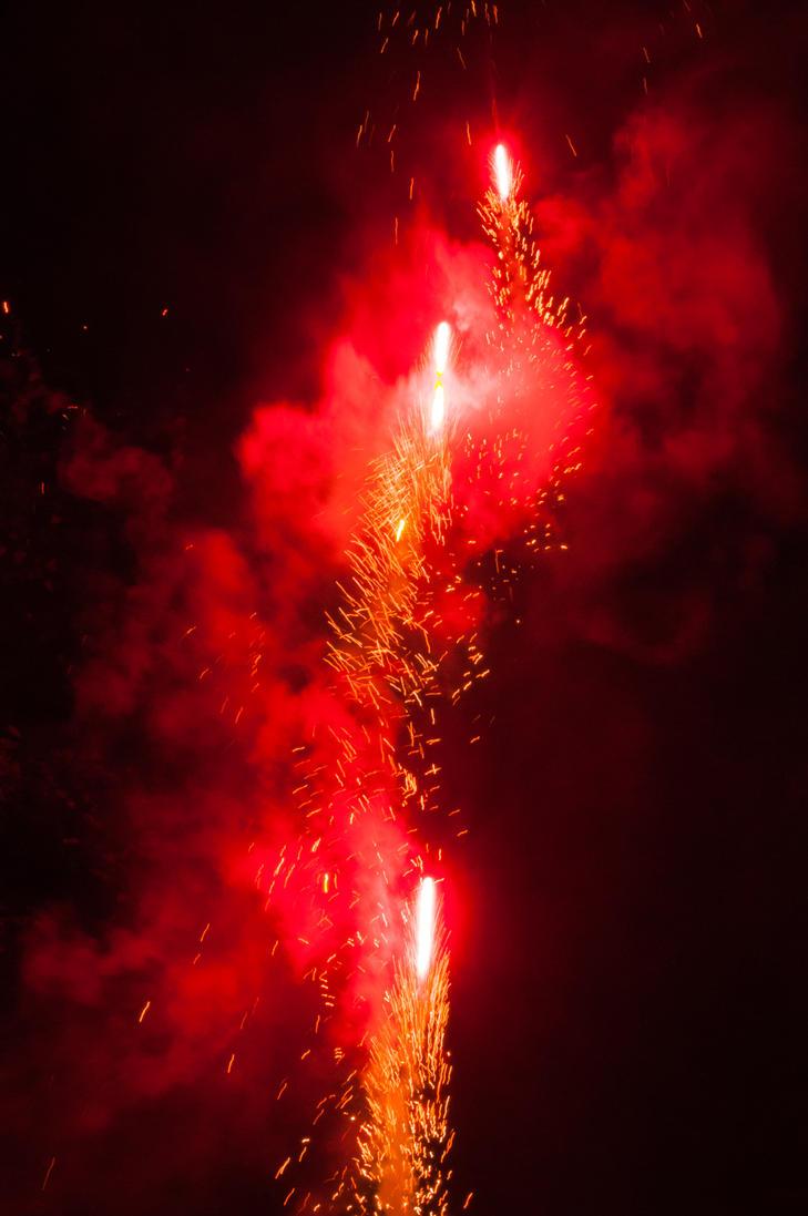 Fireworks display Bonfire Night 2015 by TazPoltorak