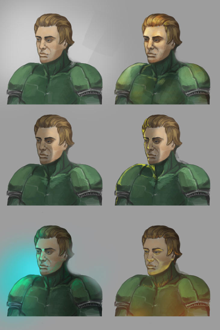 Lighting practice-male face by AndroidAleksandraSH