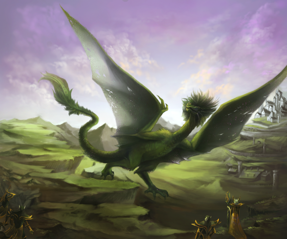 Dragon's arrival by Nidhogge