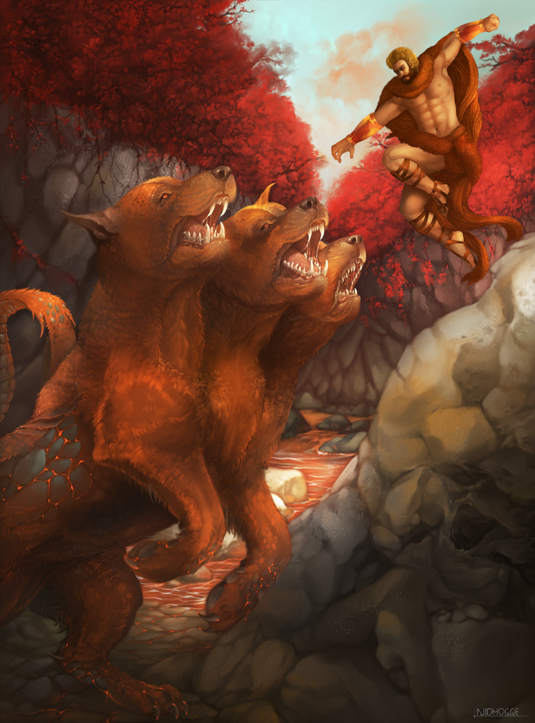 Hercules' Labor 12 - Cerberus by Nidhogge on DeviantArt
