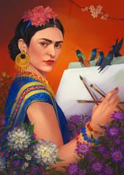 Frida Kahlo by Nidhogge
