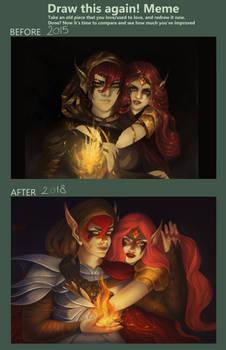 Draw this again meme - Elven Flame