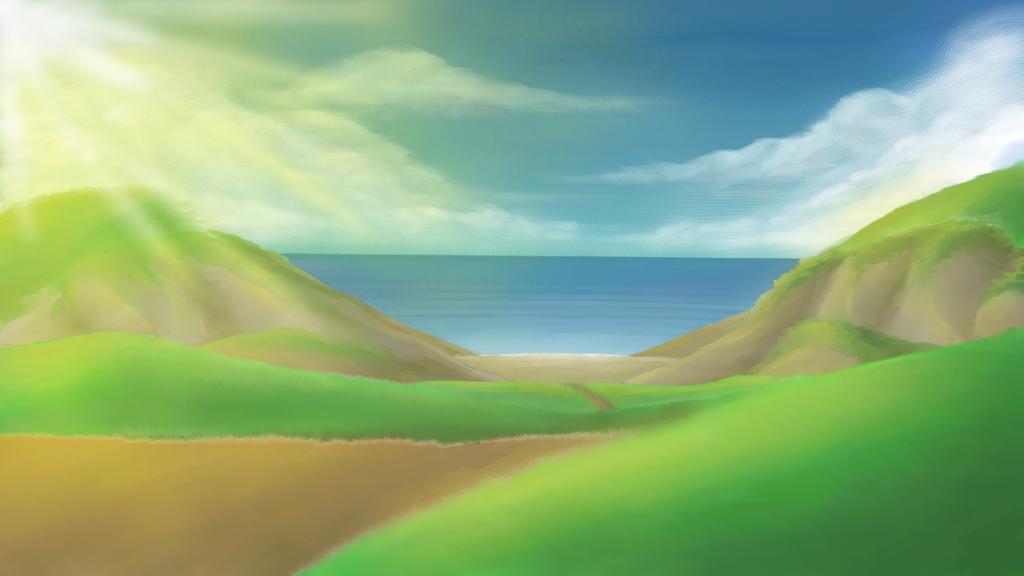 Beach and Cliffs by NickJ2598