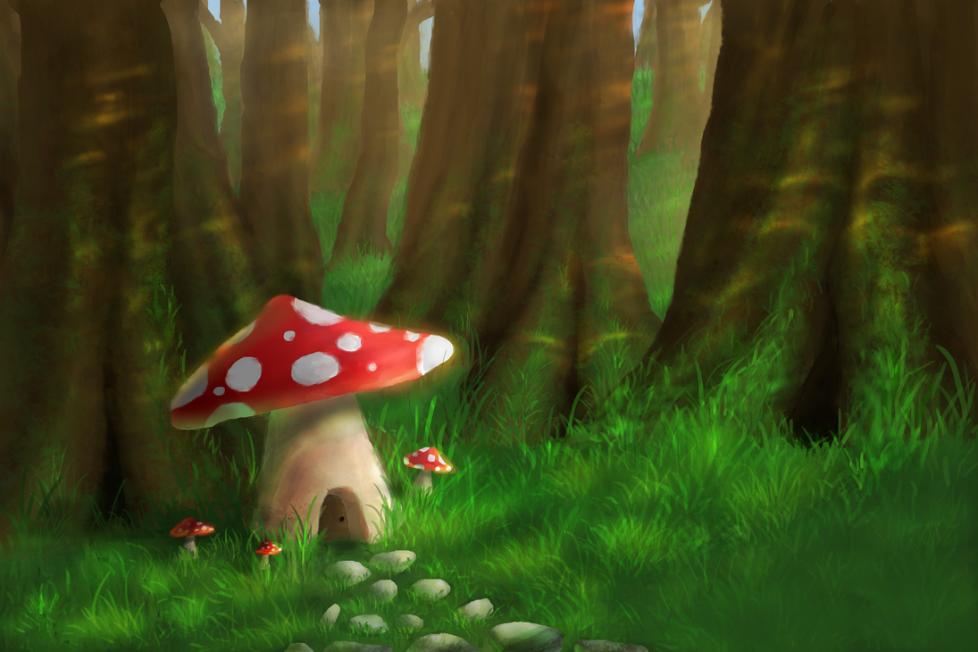 Late Afternoon in the Mushroom Forest by NickJ2598