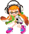 Inkling Girl Pixel by Tinkalila